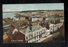 1943 Occupied Jersey England Picture Postcard First Day Cover St Helier view Fdc