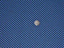 HEAVY JERSEY FLOCKED SPOT-BLACK/ROYAL BLUE- DRESS FABRIC-FREE P&P