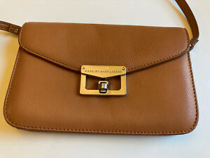 marc by marc jacobs Tan Leather Purse Crossbody (convertible Clutch)