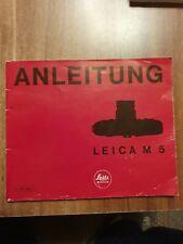 Anleitung- Leica M 5- Tb.- Original