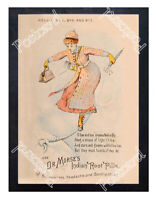 Historic Dr Morse's Indian Root Pills Nellie Bly Advertising Postcard 1
