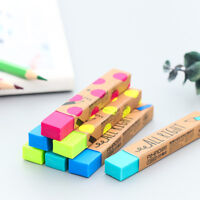 Fashion Strip Solid Color Eraser School Supplies Stationery Rubber