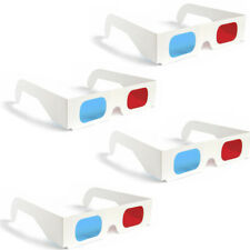 2 Pairs 3D Glasses Red Blue Paper Cardboard (4 Total)