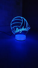 Volleyball 3D illusion 7 Color LED Light Night Change Table Desk Lamp