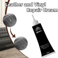 20ml Schwarz Weiß Leder und Vinyl Repair Kit - Möbel Couch Autositze Sofa