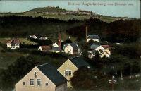 Augustusburg Sachsen 1915 Blick vom Flöhatal Panorama gelaufen nach Hohenfichte