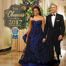 """2017 The Obamas Wall Calendar. Special Edition. 12"""" X 12"""" Size."""