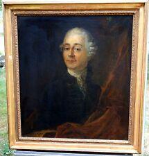 Portrait de gentilhomme Ecole Française du XVIIIème siècle Huile sur toile