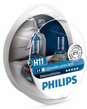 H11 PHILIPS Diamond Vision 5000k 12362DVS2 Ultimate White Light Made in Germany