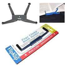 FLIPKIT BOOK HOLDER - Elliptical Page Clamp - Reading Rack Clip Bluezap - GRAY