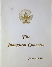 SPIRO AGNEW SIGNED AUTOGRAPH JANUARY 1973 NIXON AGNEW INAUGURAL CONCERTS PROGRAM
