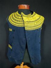 MUSEUM PC 1896 FRENCH ANTIQUE VICTORIAN  EMBROIDERED  BRETON ANCIEN FOLK VEST SM