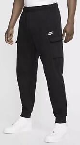 Nike Men's Club Fleece Jogger Tapered Pants BLACK Sz XL 826431-010 A29