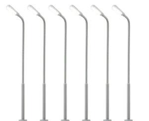 Viessmann 69906 Lampes de Rue, LED Blanc 5+1, 6 Pièces, Tt