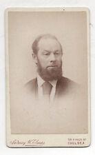 PHOTO - CDV - Homme Sidney W. Elmes Chelsea London Londres Vers 1900 Barbe