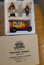 Popcorn Vendor Departmen 56 Christmas In The City Set Of 3 1989 5958-7