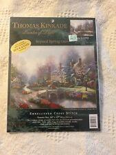 THOMAS KINKADE Counted Cross Stitch Kit BEYOND SPRING GATE  New