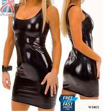 Unbranded Faux Leather Patternless Petite Dresses for Women