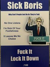 More details for sick boris lockdown morale patch hook backing amazing item christmas gift nhs