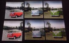 Kombi Glass Drink Coasters VW Kombi Combi Volkswagen Campervan Coasters Set of 6
