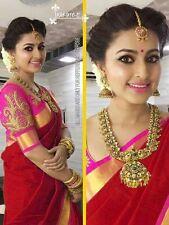 New Designer Indian Saree Fabric Chanderi cotten Wedding,Party wear Saree Blouse