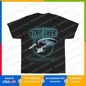 Star Trek Original Series Enterprise Glow Graphic T-Shirt Black S-5XL