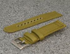 Canvas SPLIT Strap 2teilig zweiteiliges  Armband 20 mm Farbe oliv 8323