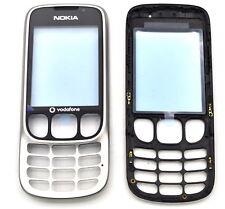 Nokia 6303 A-Cover silber schwarz mit Vodafone Logo