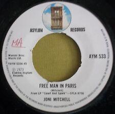 "Joni Mitchell - Free Man In Paris - 1973 Asylum AYM533 - 70s Pop/Rock/Glam 7"""