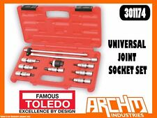 "TOLEDO 301174 - UNIVERSAL JOINT SOCKET SET 3/8"" SQ. DR. METRIC HEX 3-10MM 10 PC"