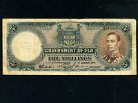 Fiji Islands:P-37d,5 Shillings,1941 * King George VI *