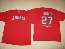 Angels Baseball Angels Camo Shirt Sz XL -Mike Trout 27 5/15/2014 SGA - New