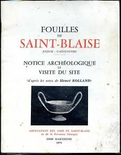 FOUILLES DE SAINT-BLAISE - H. Rolland 1974 - Saint-Mître Bouches-du-Rhône