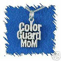 Sterling Silver Color Guard Mom Charm