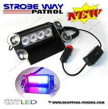 FEUX DE PENETRATION PACE CAR STROBO STROBOSCOPIQUE LED HIGH WAY PATROL BLEU/ROUG