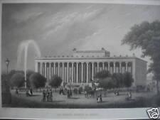 Poppel: Altes Museum zu Berlin, Stahlstich 1842, dekorativ!