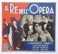 IL RE DELL'OPERA locandina fotobusta cartonata cinema anni Trenta '30 1936