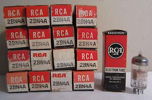 Lot De 17 RCA 2BN4A Radiotron Electron Électronique Tube En Boîtes NOS