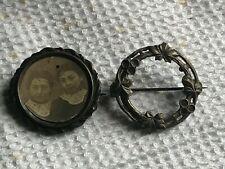 lot de deux porte photo broche ancien xix ème