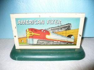 AMERICAN FLYER by A.C. GILBERT S-Gauge '(Metal) Electric Highway  Billboard'-VG!