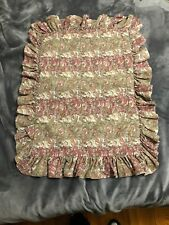 Ralph Lauren 2 Paisley Cotton Linen Hearthside Ruffled Standard Pillow Sham