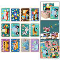 Wooden Jigsaw Puzzle Preschool Educational Stacking Toys for Toddlers Kids