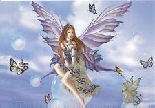Nene Thomas Purple Lace Bubble Rider Fairy Postcard Kitten Wings Butterfly New