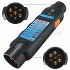 12v 7 PIN Car Trailer Towing Tow Bar Light Plug & Socket Wiring Circuit Tester