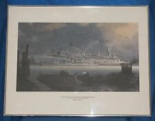 "ROBERT D WATTS (1971) Framed US Navy Art Print USS SAMUEL GOMPERS  28"" x 22"""