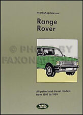 Range Rover Repair Shop Manual 1986 1987 1988 1989 Service Workshop Book