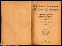 QUI COMINCIA LA SVENTURA DEL SIGNOR BONAVENTURA - TOFANO (STO) - MADELLA 1927