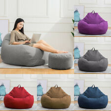 Large Bean Bag Chair Sofa Cover Lazy Lounger Cover Inner Liner Indoor Home Comfy