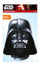 Darth Vader Official Star Wars 2D Card Party Face Mask Fancy Dress Up Empire