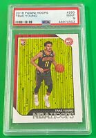 2018 Panini NBA Hoops Trae Young #250 PSA 9 Rookie RC Atlanta Hawks